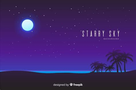 Night Starry Sky Background Vector Free Download
