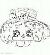 Coloring Shopkins Pages Cake Sprinkle Lee Printable Sprinkles Template Characters sketch template