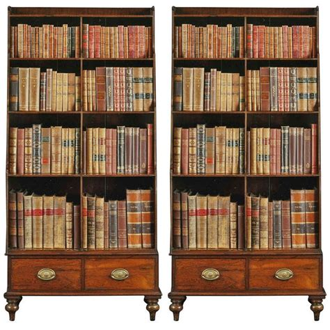 Open Shelf Bookcases by A Fine Pair Of Georgian Rosewood And Brass Inlaid Tall