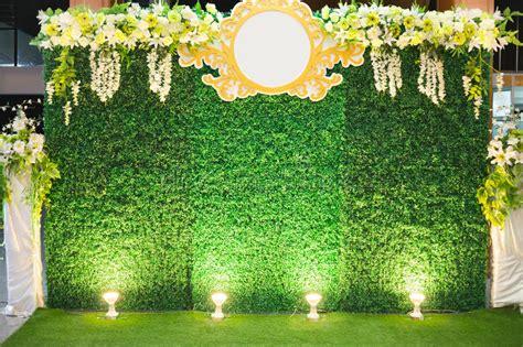 luxury indoors wedding stage decorate stock image image