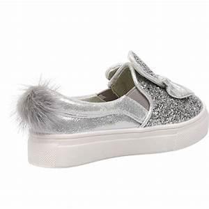 Pom Pom Schuhe : kids girls glitter pom bunny pumps childrens plimsolls sneakers trainers shoes ebay ~ Frokenaadalensverden.com Haus und Dekorationen