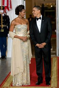 Michelle Obama Drops Jaws In A Chainmail Versace Gown At