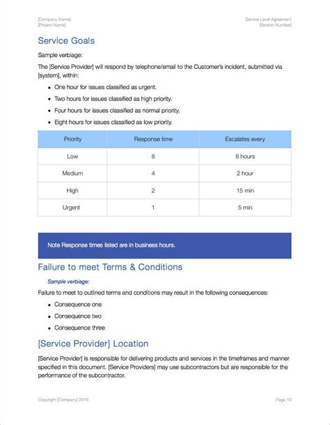 service level agreement template apple iwork pages