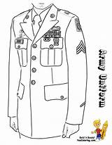 Army Uniform Coloring Dress Print Military Soldier Soldiers Yescoloring Uniforms Female Officer Formal Combat Noble Flags sketch template
