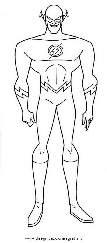 disegno flasha personaggio cartone animato da colorare
