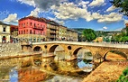 Latin Bridge In Sarajevo Bosnia And Herzegovina Stock ...