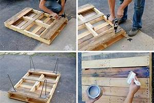 pallet coffee table with metal hairpin legs diy 99 pallets With how to build a coffee table out of pallets
