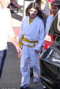 TJ Jackson plays the father figure as he takes cousins Prince and Blanket to karate class