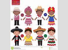 Enfants Au CostumeJamaïqueCubaMexique Traditionnel