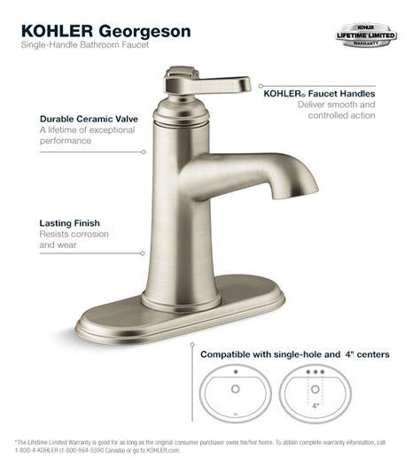 kohler bathroom faucets kohler k12182 fairfax single