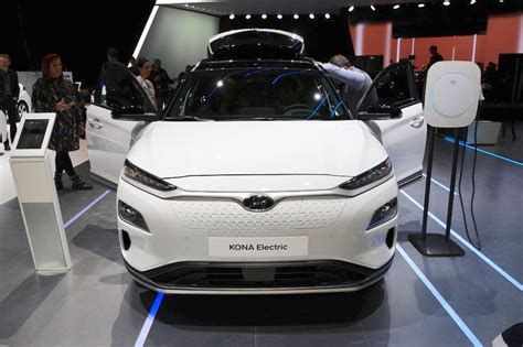 Hyundai Kona Electric Front At 2018 Geneva Motor Show