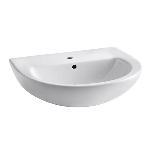 american standard evolution 24 in pedestal sink basin in