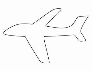 airplane pattern use the printable outline for crafts With airplane cut out template