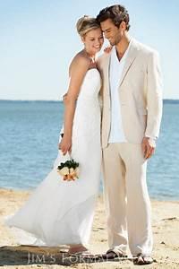 Ivory Linen Suits Beach Wedding Suits For Men Tailored Linen Suit Custom Made Groom Tuxedo ...