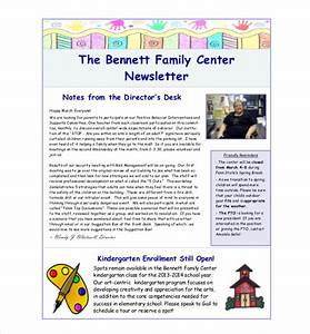 family newsletter template 10 free psd pdf documents With childcare newsletter templates