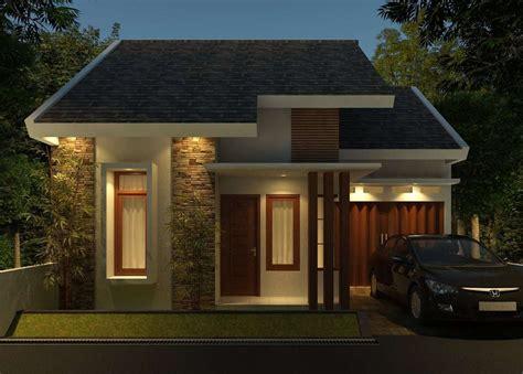 desain rumah minimalis satu lantai tampak depan