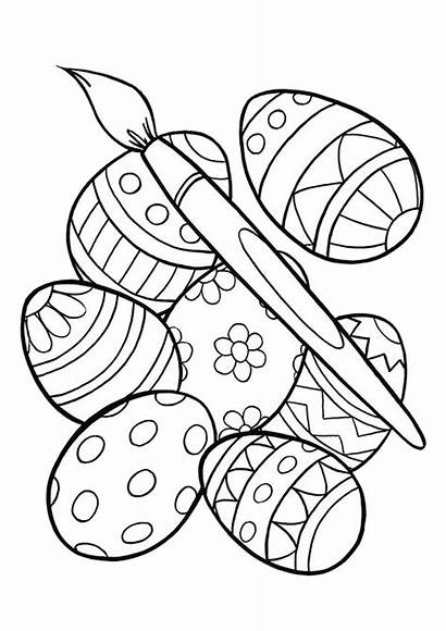 Easter Coloring Pages Printable Egg Happy Colouring