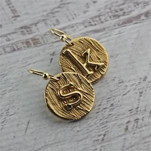initial necklace custom letter necklace in gold bronze With metal letters for jewelry