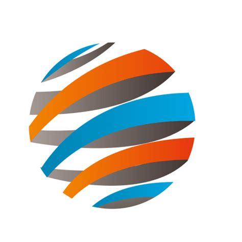 Colorido icono de órbita de rayas 3d Descargar PNG/SVG