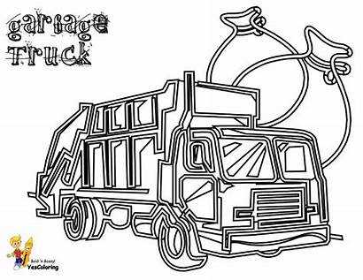 Coloring Garbage Truck Pages Printable Trucks Construction