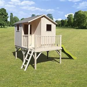 Maisonnette En Bois Sur Pilotis : maisonnette en bois brut sur pilotis haut 0 90m pour ~ Dailycaller-alerts.com Idées de Décoration