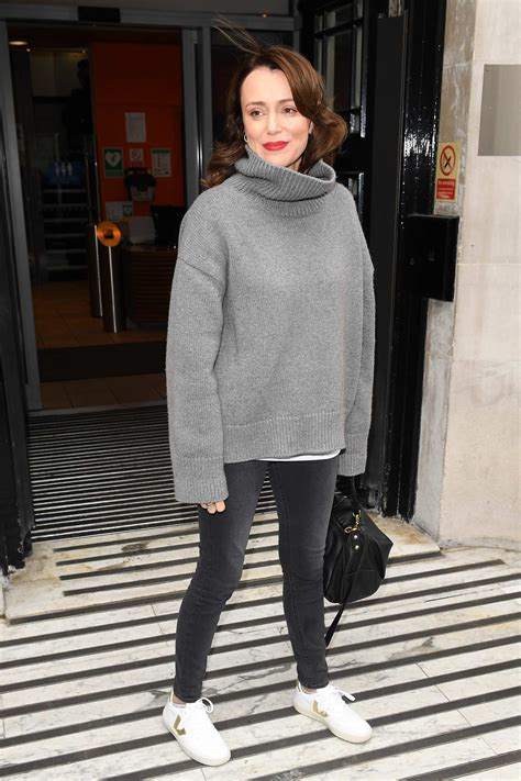 keeley hawes pose for photos and greet her fans as she ...
