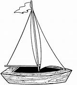 Boat Coloring Clipart Clip Clker Vector sketch template