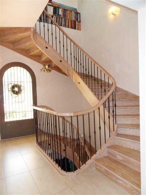 escalier courbe en ch 234 ne c 233 rus 233 r 233 alis 233 par menuiserie md