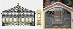 Awesome compound wall gate models gallery plan d house