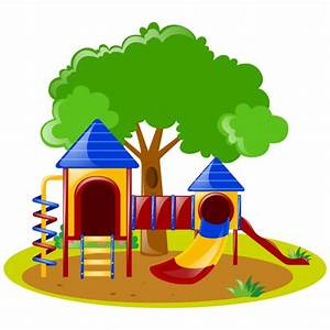 Playground clipart background - Pencil and in color ...