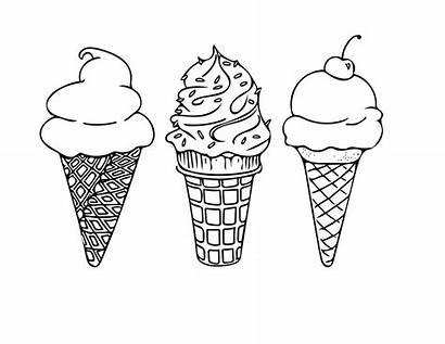 Ice Cream Coloring Cones Pages Disney