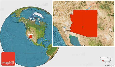 Satellite Location Map Of Arizona