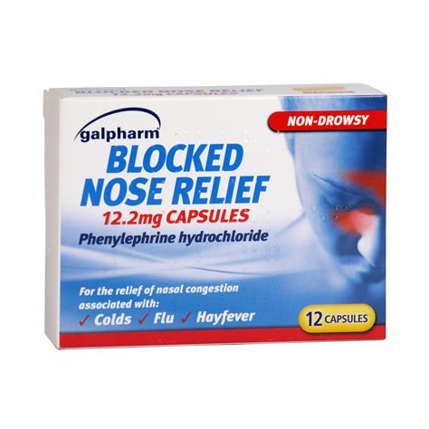 Galpharm Blocked Nose Relief 12 Caps Concord Cash And Carry