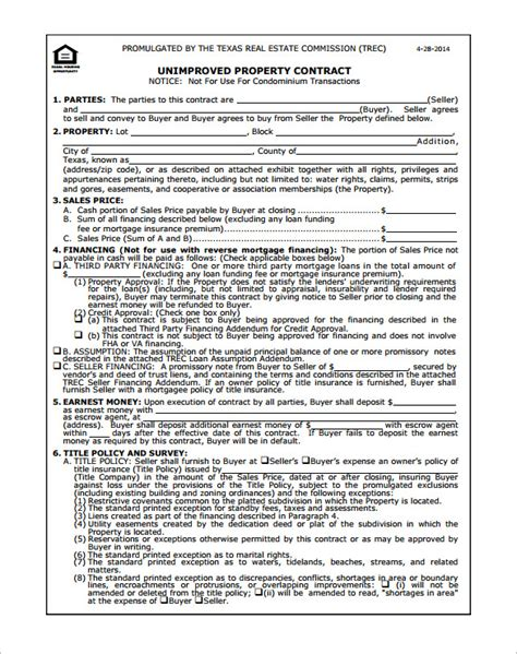 colorado real estate purchase agreement simple form 8 real estate contract templates free word pdf format