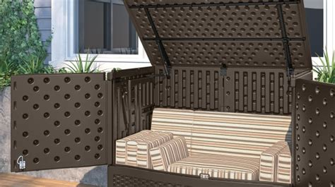 Suncast Backyard Oasis Vertical Deck Box by Entertaining And Storage Box By Suncast