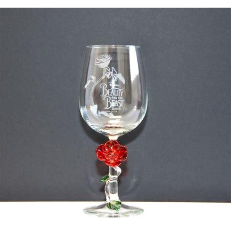 beauty   beast wine glass  rose