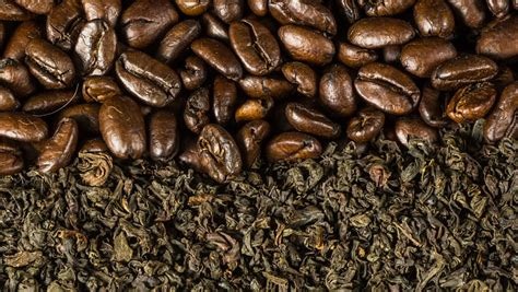 Stock Video Of Roasted Coffee Beans And Tea Leaves