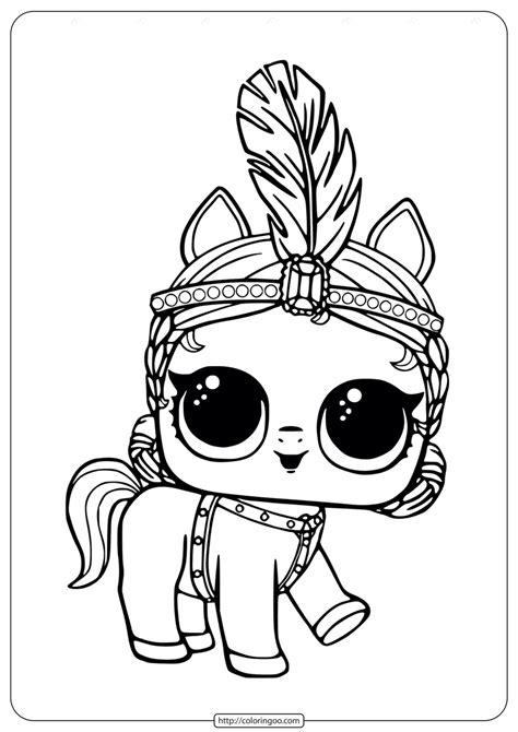 LOL Surprise Pony Showpony Coloring Pages