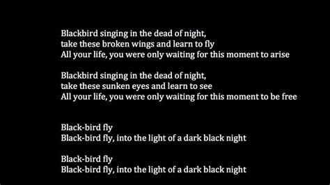 beatles blackbird meaning youtube
