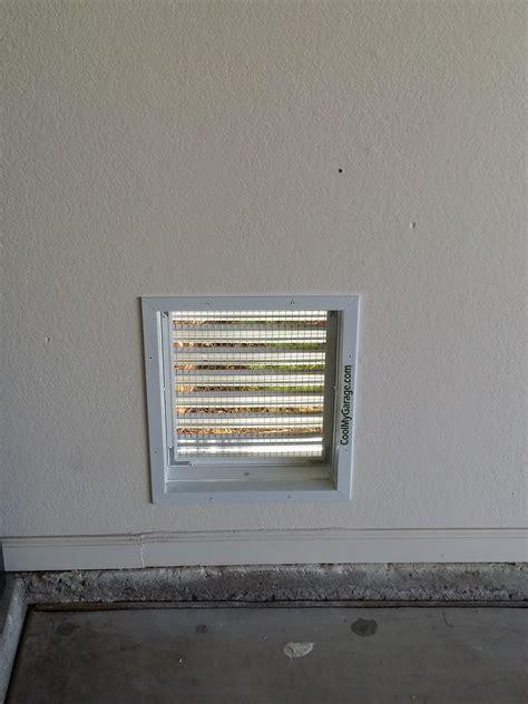 garage wall exhaust fan through the wall air intake ventilation vent cool my garage