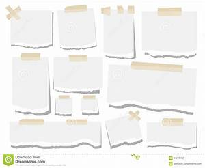Blank Paper Torn Page Notes. Office Notepaper Sheets On ...