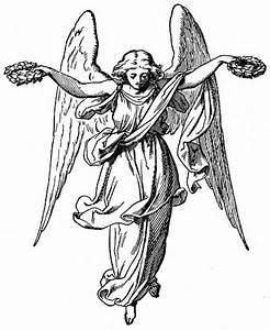 Religious Angel Black Clipart - Clipart Suggest