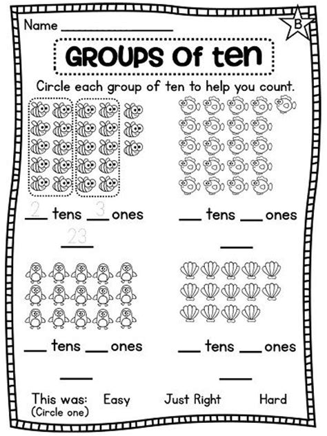 math worksheets groups of ten grade math unit 9 place value count grade