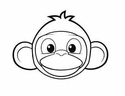 Coloring Pages Monkey Monkeys Colouring Printable Face