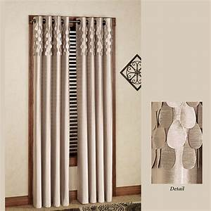 Lulu semi sheer grommet curtain panels for Grommet curtains with sheers