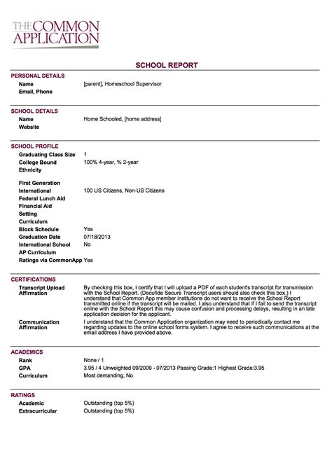 common application school report form 2015 exles of lab reports for biology in high school