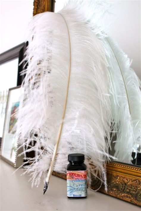 DIY Fancy Feather Quill Pen   Pretty Prudent