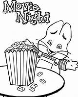 Popcorn Coloring Ruby Max Bridges Printable Kernel Night Drawing Corn Candy Sheets Getcolorings Colorings Getdrawings Sheet Unique sketch template