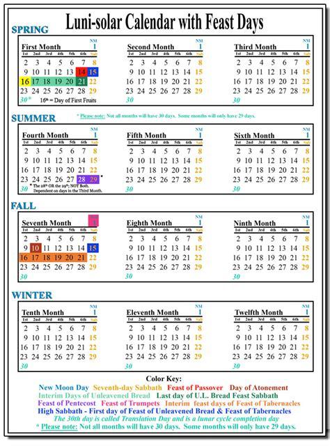 luni solar calendar  feast days