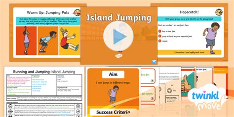 * New * Twinkl Move Pe  Y1 Running And Jumping Lesson 5  Island Jumping